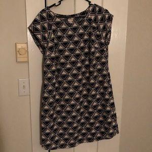 Geometric shift dress